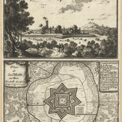 La Mote Av Bois ; Plan de la Motte au Bois