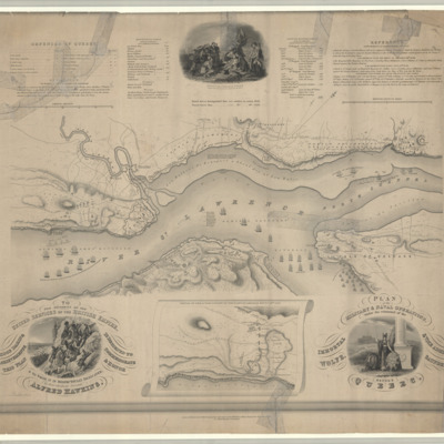 Plan of the military & naval operations, under the command of the immortal Wolfe, & Vice Admiral Saunders, before Quebec