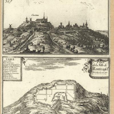 Mont-Cassel ; Plan de la Ville de Montcassel